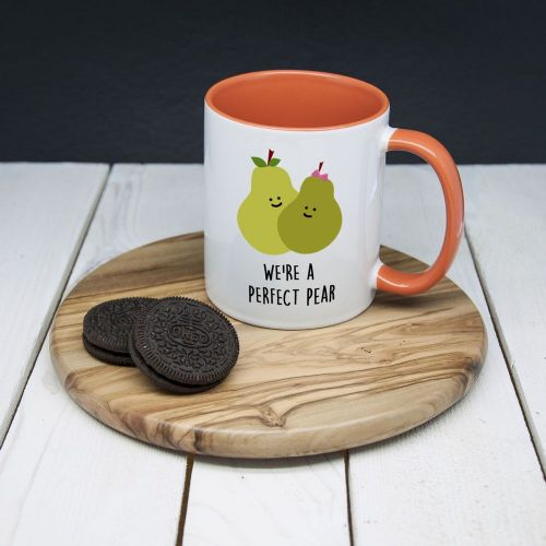 """We're A Perfect Pear"" Romantic Mug (unpersonalised)"